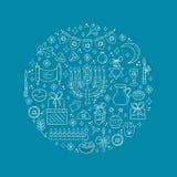 Éléments de conception de Hanoucca Image libre de droits