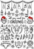 Éléments de conception de vecteur de Noël Images libres de droits