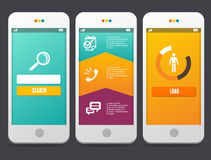 Éléments de conception web Calibres d'applications Photos stock