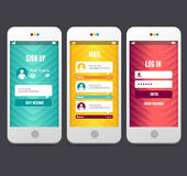 Éléments de conception web Calibres d'applications Images libres de droits