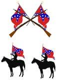 Éléments de Confederacy Photographie stock libre de droits