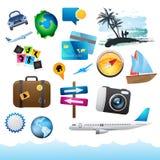 Éléments de course et de vacances. Image stock