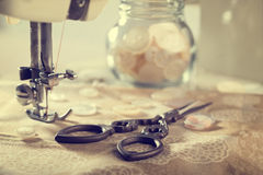 Éléments de couture Photographie stock libre de droits