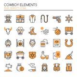 Éléments de cowboy Image stock