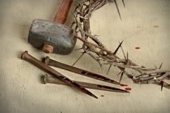 Éléments de crucifixion Image libre de droits