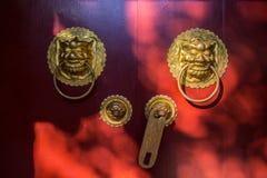 Éléments de décoration chinoise d'art Photos libres de droits