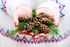 Éléments de décoration de Noël Photos stock