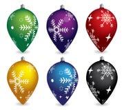 Éléments de décoration de Noël de vecteur Image stock