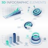 éléments de 3d Infographic Photographie stock libre de droits