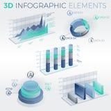 éléments de 3d Infographic Photo stock