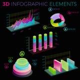 éléments de 3d Infographic illustration de vecteur