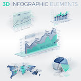 éléments de 3d Infographic Photo libre de droits