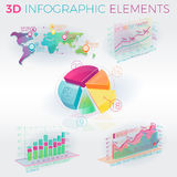 éléments de 3d Infographic Images stock
