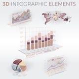 éléments de 3d Infographic Photos libres de droits