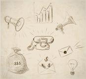 Éléments de design d'entreprise de croquis dans le style de vintage Image stock