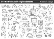 Éléments de design d'entreprise de griffonnage illustration stock
