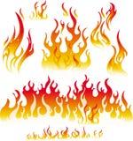 Éléments de dessin d'incendie Images libres de droits