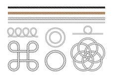 Éléments de dessin de corde illustration libre de droits