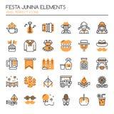 Éléments de Festa Junina Photographie stock libre de droits