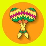 Éléments de fiesta illustration stock