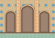 Éléments de fond islamique d'ornamental d'architecture illustration de vecteur