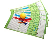Éléments de golf Photographie stock