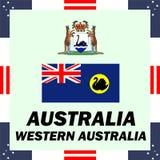 éléments de gouvernement d'Australie - Australie occidentale illustration de vecteur