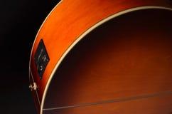 Éléments de guitare acoustique Images stock