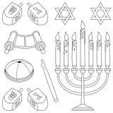 Éléments de judaïsme de coloration Photo stock