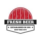 Éléments de logo, d'insigne, d'emblème ou de logotype de vintage pour la bière, la boutique, le brew à la maison, la taverne, la  illustration stock