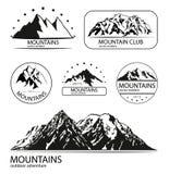 Éléments de logo de montagne et d'expédition illustration de vecteur