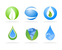 Éléments de logo de nature d'écologie illustration de vecteur