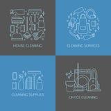 Éléments de logo de nettoyage Photo stock