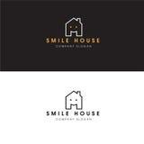 Éléments de Logo Real Estate Design Template de Chambre de sourire et icône à la maison Photographie stock libre de droits