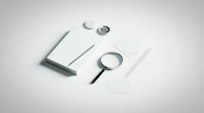 Éléments de maquette de conception de présentation de livre, Images stock