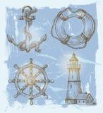 Éléments de mer Images stock