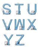 Éléments de modèle d'alphabet S à Z Photos libres de droits