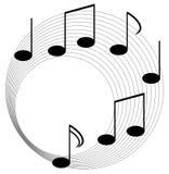 Éléments de musique avec la conception plate Photos stock