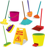 Éléments de nettoyage illustration stock