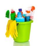 Éléments de nettoyage dans la position image stock