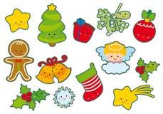 Éléments de Noël illustration stock