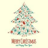 Éléments de Noël de vintage Images libres de droits