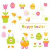 Éléments de Pâques illustration libre de droits