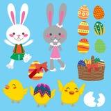 Éléments de Pâques illustration de vecteur