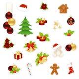 Éléments de papier de Noël Photo libre de droits