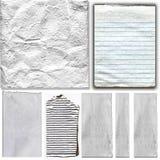 Éléments de papier réels blancs réglés Photo libre de droits