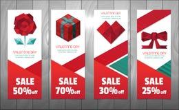 Éléments de polygone de Valentine illustration stock