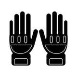 Éléments de pompier de protection de gants de silhouette illustration libre de droits