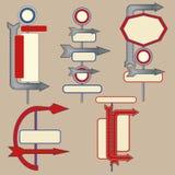 Éléments de poteau indicateur de cru illustration stock