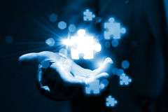 Éléments de puzzle Photographie stock libre de droits